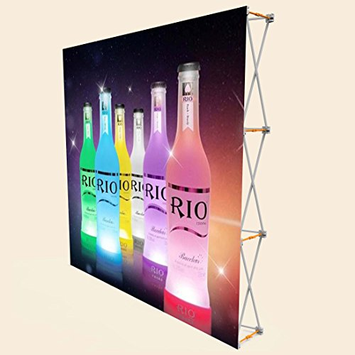 Display Factory USA DFU Fabric Great Wall Pop Up Stand Back Wall with Velcro and Carrying ()