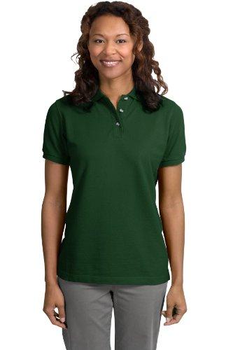 Port Authority Ladies Pique Knit Sport Shirt, 3XL, Dark Green