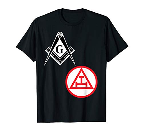- Mens Mason Royal Arch Split T Shirt Masonic York Rite Tee Black