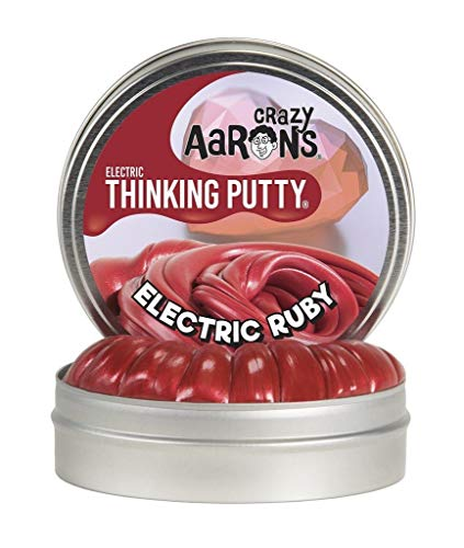 Crazy Aarons Thinking Putty 2 Mini Tin Electric Ruby