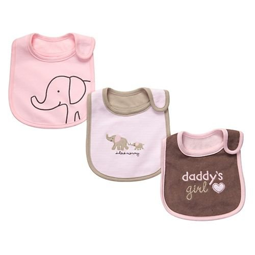 Carter's 3 Pack Teething Bibs - Daddy's Girl-Pink-One Size