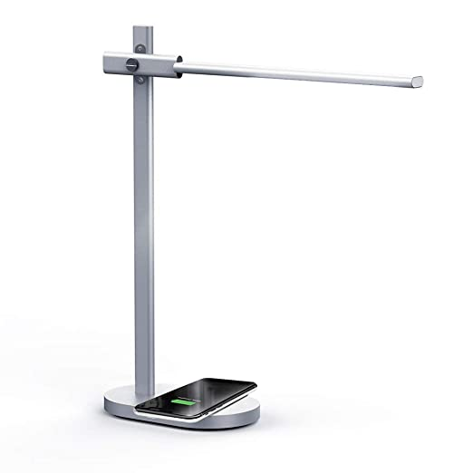 MOMAX 2-in-1 Qi Standard Fast Charging Wireless Charger Mat LED Desk Lamp 10W