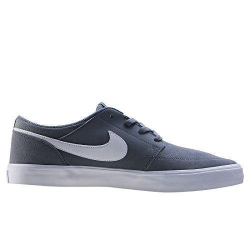 NIKE Herren SB Portmore II Solar Skate Schuh Cooles graues weißes Schwarzes