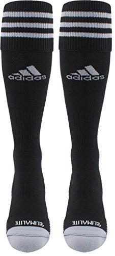 adidas Copa Zone Cushion III Soccer Socks (1-Pack), Black/White, Medium