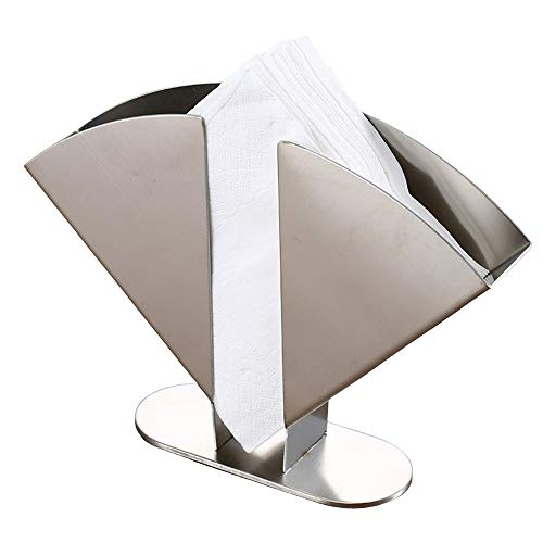 Stainless Steel Napkin Holder for Kitchen Table and Countertops, Freestanding Metal Tissue Dispenser Organizer for…