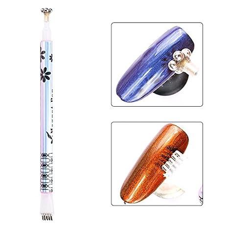 Yiwa Dual-ended Magnet Stick Pen UV Gel Polish Nail Beauty Nail Art Tool