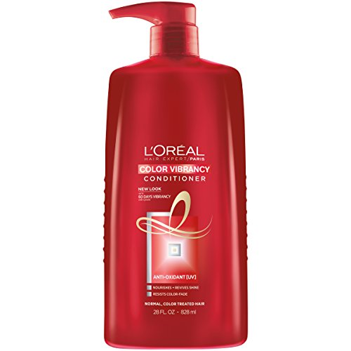 Color Protecting Leave - L'Oréal Paris Hair Expert Color Vibrancy Protecting Conditioner, 28 fl. oz. (Packaging May Vary)