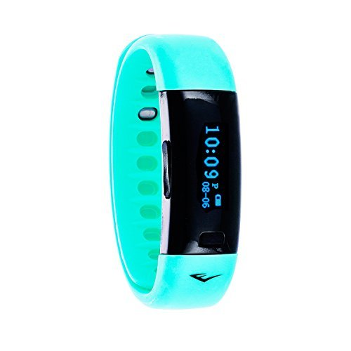 Everlast TR5 - Wireless Fitness Activity Tracker + Sleep Wristband With LED Display - Turquoise