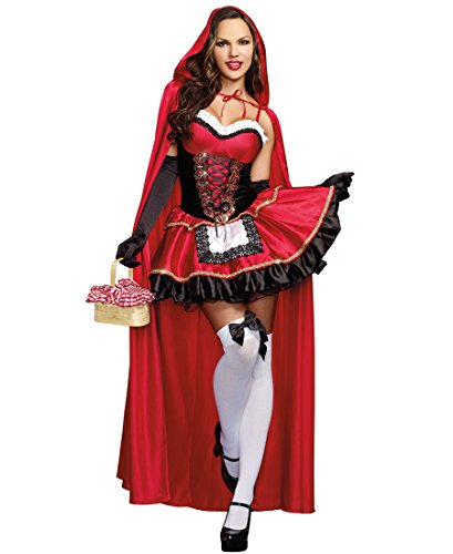 Un Disfraz Para Halloween Original (Dreamgirl 9477 Little Red And The Wolf Couples Costume - Small -)