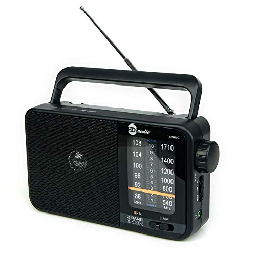 HDi Audio Home Portable Retro AM/FM Radio Player + Headphone