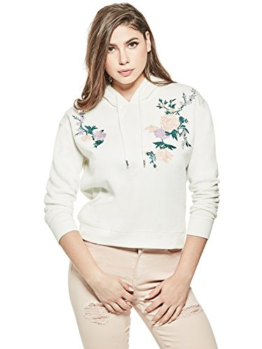 Embroidered Hoody Tunic - GUESS Factory Women's Rosada Embroidered Hoodie