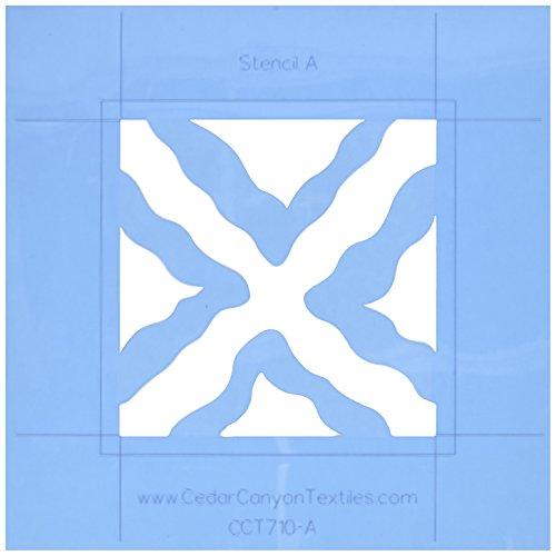 (Cedar Canyon Textiles Wavy Squares DesignMagic Stencil Set for Shiva Paintstiks-2/Pkg.)