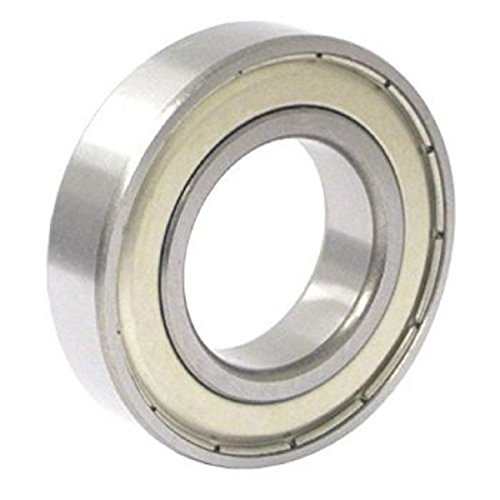 C&U R4A-ZZ Single Row Deep Groove Ball Bearing, Double Shielded, ABEC1 Precision, Steel Cage, M3 Clearance, 0.25
