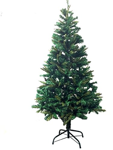 6' Ft Premium Canadian Pine Frasier Fir Green Artificial Christmas Tree Plush & Full - Unlit With Metal Tree Stand (Blue Frasier Fir Tree)