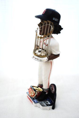 RARE Red Sox 2004 MLB approved WORLD SRERIES CHAMPIONS Super Star #24 Manny Ramirez 10inch Trophy and ring base bobblehead