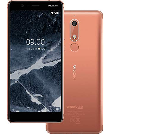 Nokia 5.1 4G LTE Dual Sim Factory Unlocked 32GB 3GB RAM (LTE Europe Asia Africa Cuba Digitel) Android 9 Octa Core (Copper)