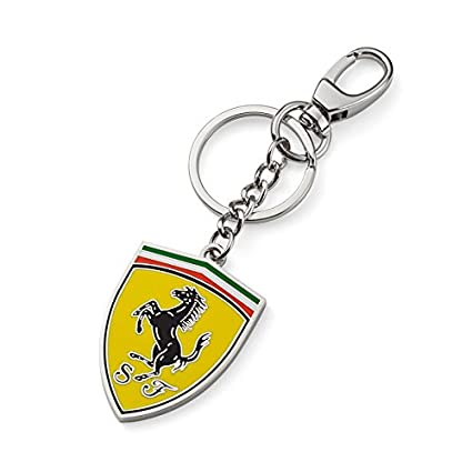 Amazon.com  Ferrari Metal Shield Key Chain  Sports   Outdoors 5c655b4b03