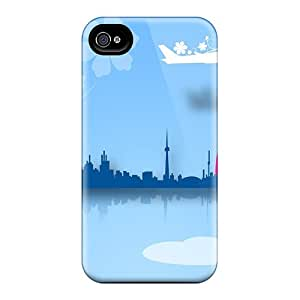 New Style Tpu 4/4s Protective Case Cover/ Iphone Case - Rainbow City