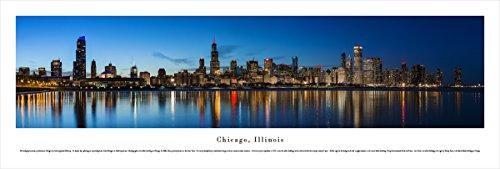 - Blakeway Worldwide Panoramas Chicago Shoreline at Night - Blakeway Panoramas Unframed Panoramic Posters,