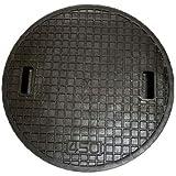 フジクリーン用 樹脂製浄化槽マンホール蓋 (実寸)490mm 耐荷重500k