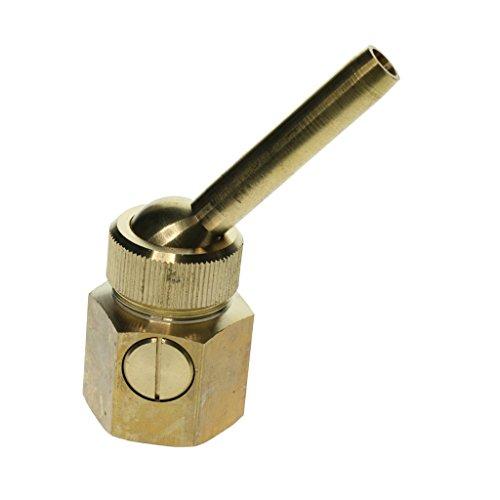 Homyl Fountain Nozzle Sprinkler Water Spray Head Straight Shape Brass, Single nozzle with valve, direct flow - DN25 Internal Thread by Homyl
