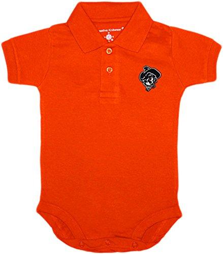 Oklahoma State University OSU Phantom Pete Baby Polo Bodysuit Orange