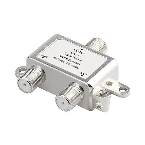Waterproof 2 in 1 2 Ways Satellite Splitter TV Signal Cable TV Signal Mixer SAT/ANT Diplexer Light-Weight & Compact