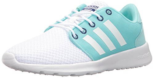 adidas Womens Cloudfoam QT Racer W Running Shoe White/White/Unity Ink