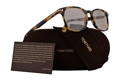 Tom Ford FT5505 Eyeglasses 52-19-145 Blonde Havana w/Demo Clear Lens 053 TF5505 TF 5505 FT 5505