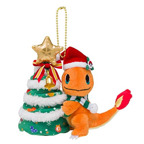 Pokemon center original Plush Toy Mascot Christmas 2018 Charmander]()