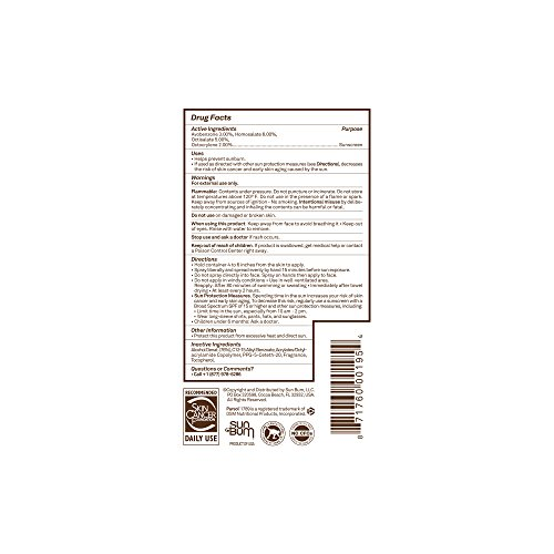 41iNORddzHL - Sun Bum Original Moisturizing Sunscreen Spray SPF 15   Reef Friendly Broad Spectrum UVA / UVB   Water Resistant Continuous Spray with Oil-Free Protection   Hypoallergenic, Paraben Free, Gluten Free   SPF 15 6oz Bottle