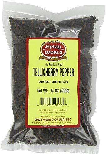 TelliCherry Peppercorn (Whole)-Black Tellicherry, 14-Ounce Unit
