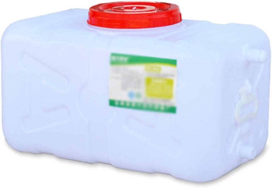 HXFAFA Tanque de Agua para Acampar de Viaje al Aire Libre Recipiente de Almacenamiento de Agua de plástico, Tanque de Agua Horizontal con Grifo, Barril químico Industrial de ácido y álcali