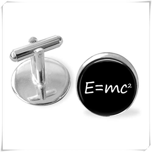 - Goodnight cat E=mc2 Cufflinks/Theory of Relativity Cuff Links,Dome Glass Ornaments, Pure Hand-Made