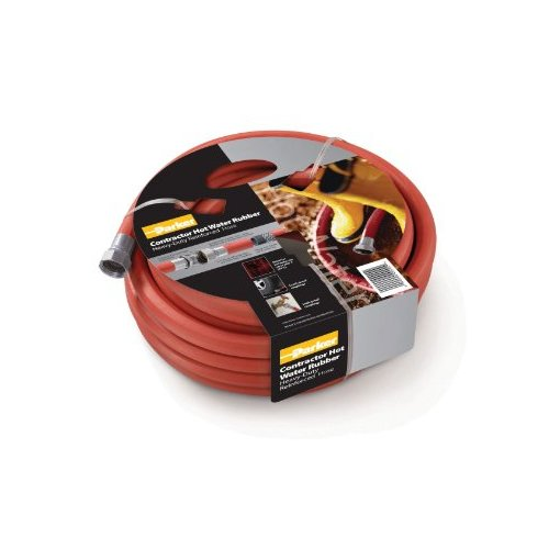 Parker Hannifin HWR5850 Rubber Cover HWR Premium Hot Water Hose Assembly, Red, 50' Length, 0.625