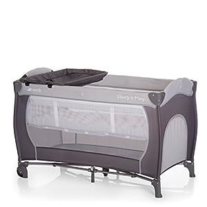 Hauck/ Sleep N Play Center/ lit parapluie 7 pièces/ jusqu'à 15 kg/ avec deux niveaux nouveau-né, table à langer, roulettes, matelas, ouverture, sac/ pliable, hauteur réglable/ Stone (Gris) 4