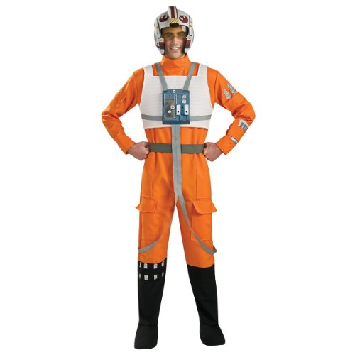 Rubie's Star Wars X-Wing Pilot Costume Orange/White - X-Large - Chest Size 44-46]()