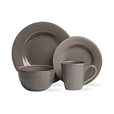 Tag 556110 Sonoma 16-Piece Dinnerware Set, Warm Gray, Service for 4