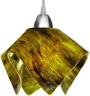 product image for Jezebel Signature Flame Track Lighting Pendant Small. Hardware: Black. Glass: Treebark