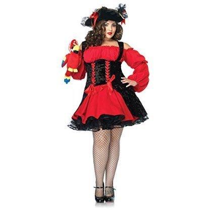 [Vixen Pirate Wench Costume - Plus Size 3X/4X - Dress Size 22-26] (Plus Size Sexy Pirate Costumes)