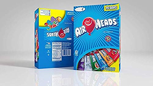 Airheads Bars Chewy Fruit Candy, Easter Basket Stuffers, Variety Pack, Party, Non Melting, 90 Count - 4 Pack