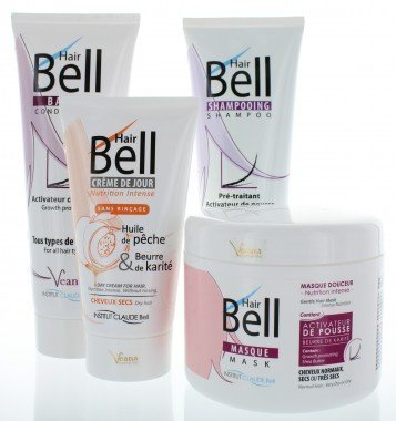 HairBell Shampoo + Conditioner + Maske + HairCream intensiv Veana