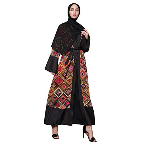 2019 Fashion! Muslim Islamic Robe,Women Ethnic Kaftan Abaya Open Cardigan Loose Plus Size Long Dress Black