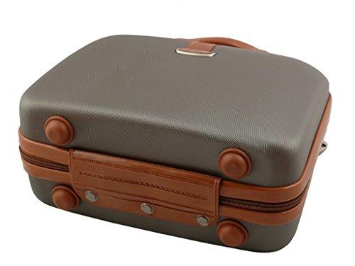 Beauty Case Kosmetikkoffer Dielle 255 Köfferchen 32x23x14 (ecru) braun