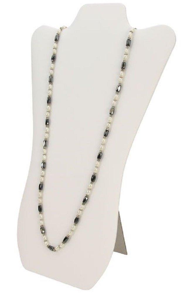 N/'ice Packaging /並/行/輸/入/品 4, Black Velvet 4 Pack Elegant Black Velvet Necklace Jewelry Display Easel 14 H by Nice