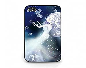 iPhone 4/4s Mobile Shell Handy Dynamic Snap on iPhone 4/4s Night Little Girl Cry Pattern Cell Shell