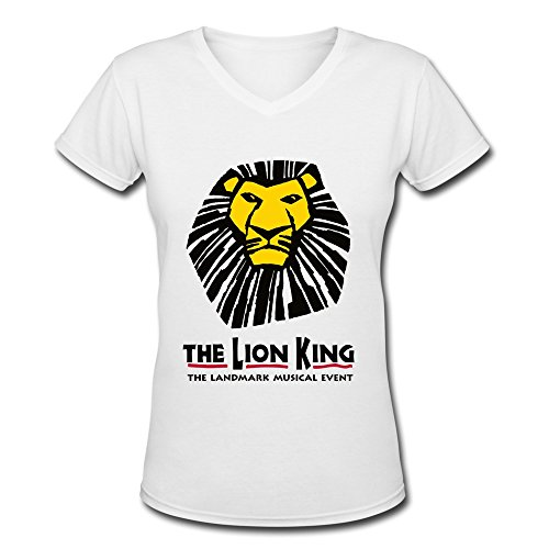 Lion King Broadway Musical Costumes (AOPO The Lion King The Landmark Musical Event V-Neck Short Sleeve Tee Shirts For Women Small)