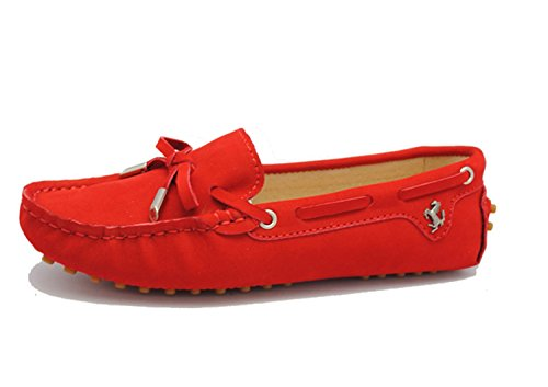 Minitoo Mujer Sandalias SuedeLeather-Red