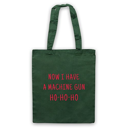 Die Hard Now I Have A Machine Gun Ho Ho Ho Bolso Verde Oscuro