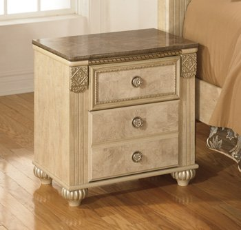 Old World Light Opulent Finish Saveaha 2 Drawer Nightstand W